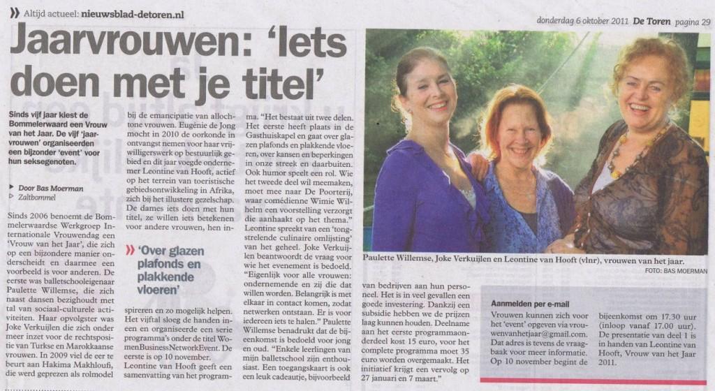Leontine van Hooft en Women Business Network Event Bommelerwaard