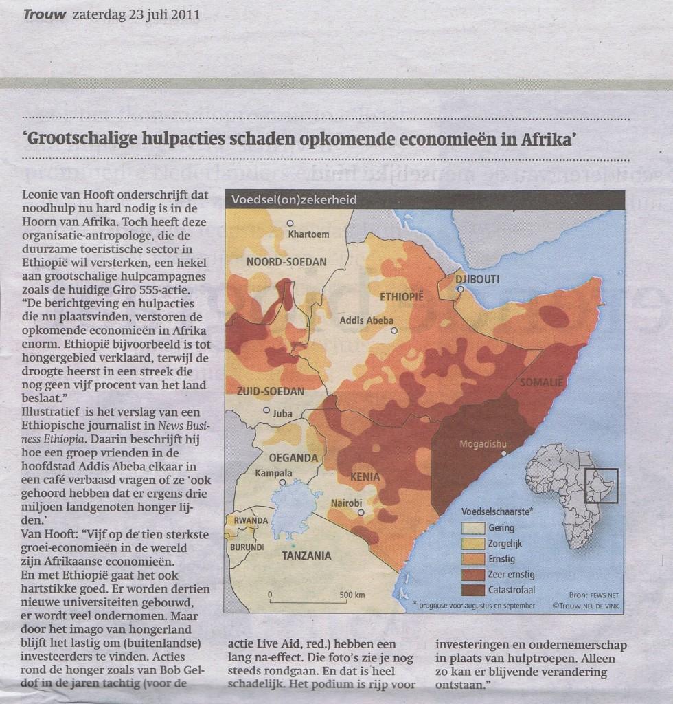 Trouw 2011 Leontine over actie 555 en Ethiopie