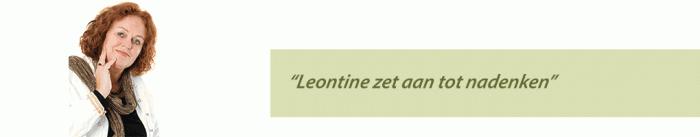 Leontine zet aan tot nadenken