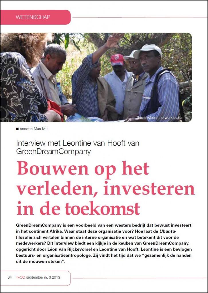 Interview Leontine van Hooft deel 1