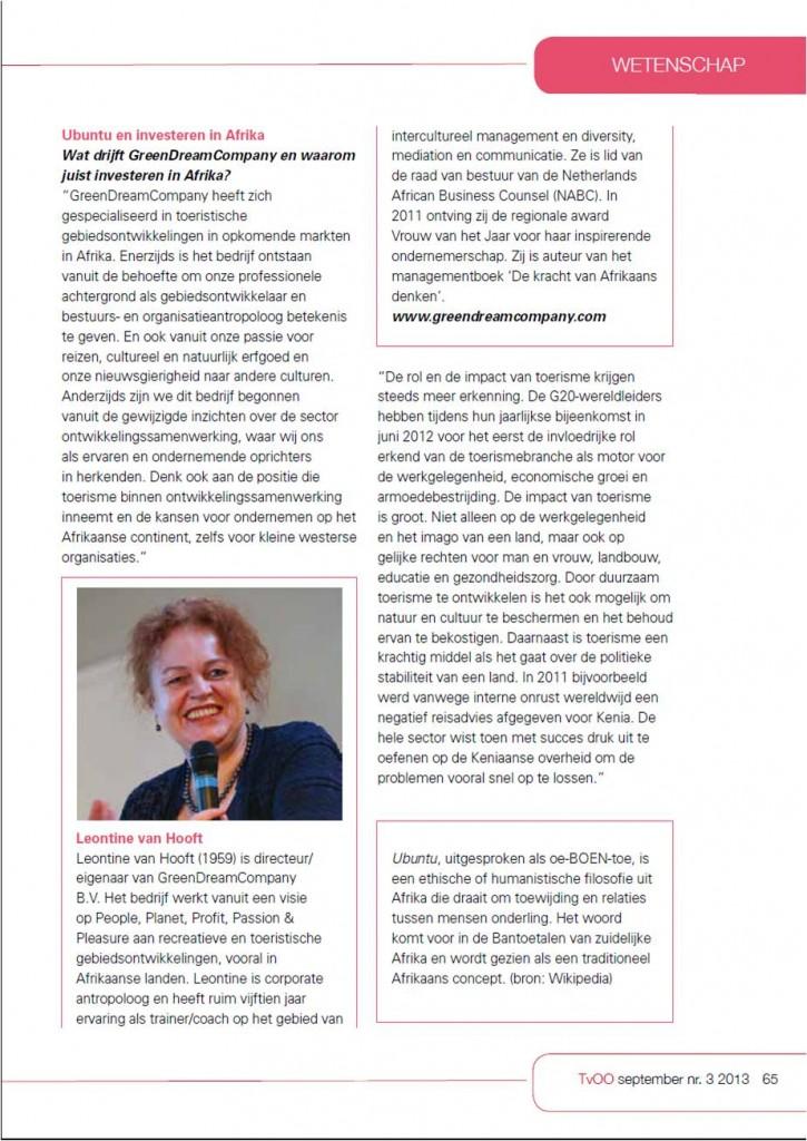 Interview Leontine van Hooft deel 2