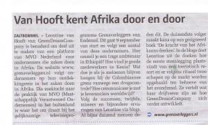 Van Hooft kent Afrika door en door
