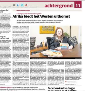 Krantenartikel Het Kontakt 25 januari 2017